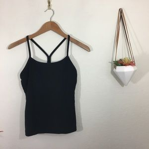 Lululemon black power y tank top